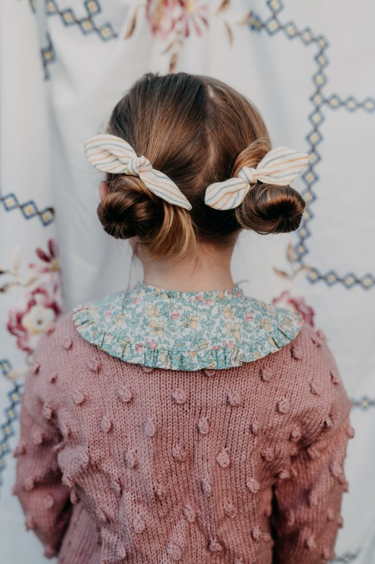 Hair Bobbles seaside stripe and buttercup collar
